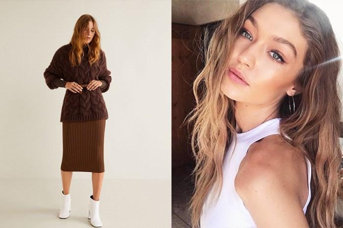 趕上大熱啡色系潮流:天氣轉冷,跟超模 Gigi Hadid 入手這件 $499 的針織衫!