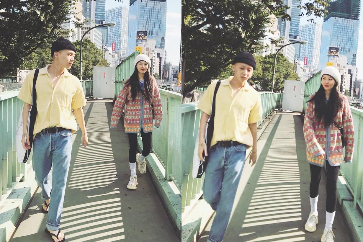 Hyuna Kim E'Dawn Triple H Cube Entertainment Pentagon K Pop Korean idols celebrities couples singers attend events Gangnam first time