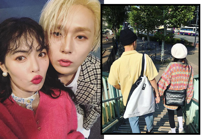 hyuna edawn attend first event together jimmy choo