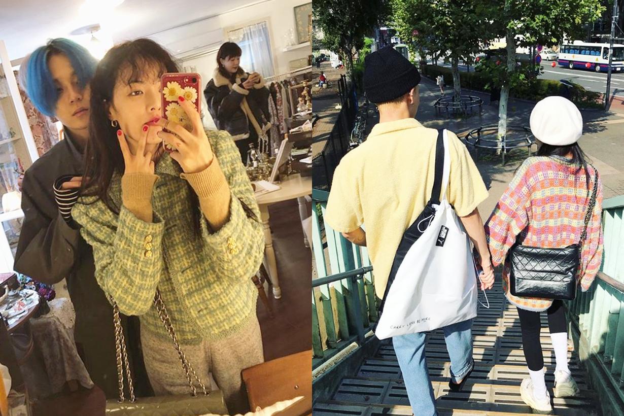 Hyuna Kim E'Dawn Celebrities Couples K Pop Korean Idols singer celebrities Cube Entertainment PDA moments Live Chat Couple Goal Makeup free Grazia Korea