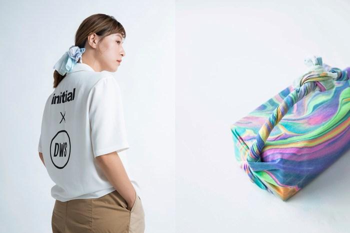 initial 於 Clockenflap 內搭起白色的小屋,讓你體驗以墨流藝術製作手巾!