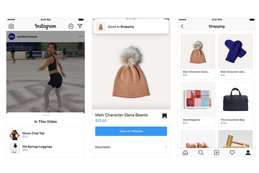 instagram shop shopping video posts