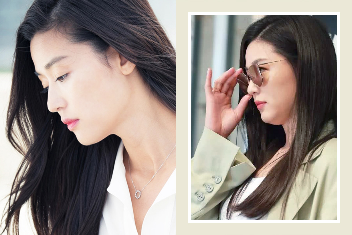 Jun Ji Hyun Double Chin Turtle Neck contouring Korean Comedian Hong Hyun Hee Celebrities makeup tricks tips hacks korean idols