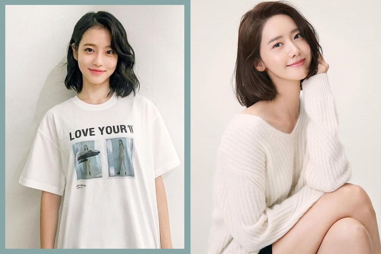 Korean girls Korean idols celebrities Yoona IU Lee Hyo Lee Kim Tae Ri Shin Ye Eun wavy airy bob hairstyles