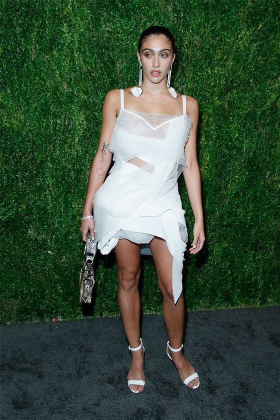 lourdes leon madonna sheer dress red carpet free the nipple