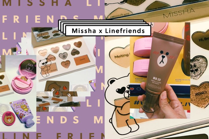 Missha x Line Friends 推出限定冬日彩妝,是時候幫化妝箱換季!
