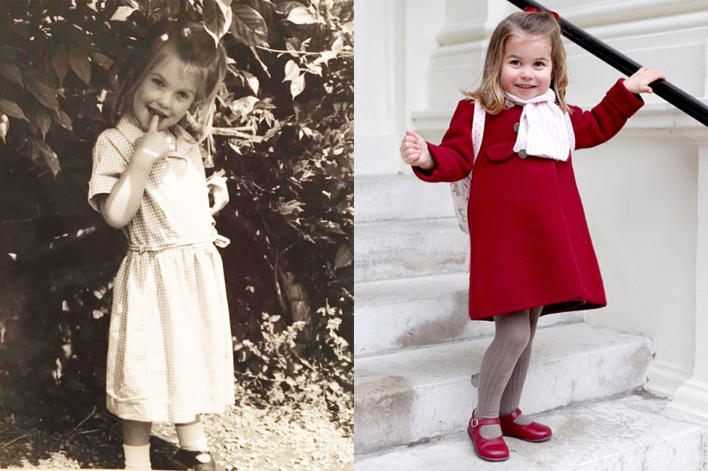 Princess Charlotte Princess Diana Niece Lady Kitty Spencer Childhood photos resemblance British Royal Family Kate Middleton Queen Elizabeth II Genes