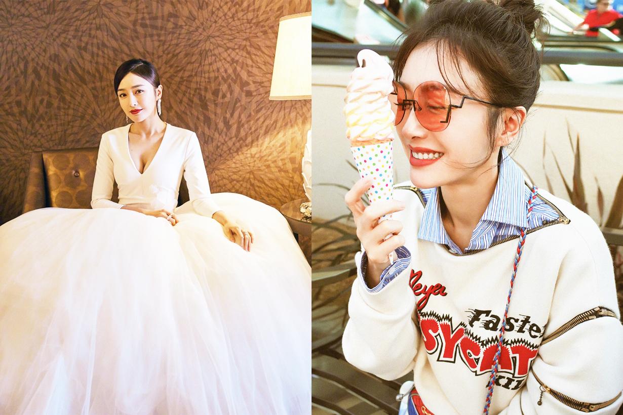 Qinlan Yan Xi Gong Lue Chinese Actress Movies TV Drama Pimples Acne sensitive skin celebrities skincare tips stress