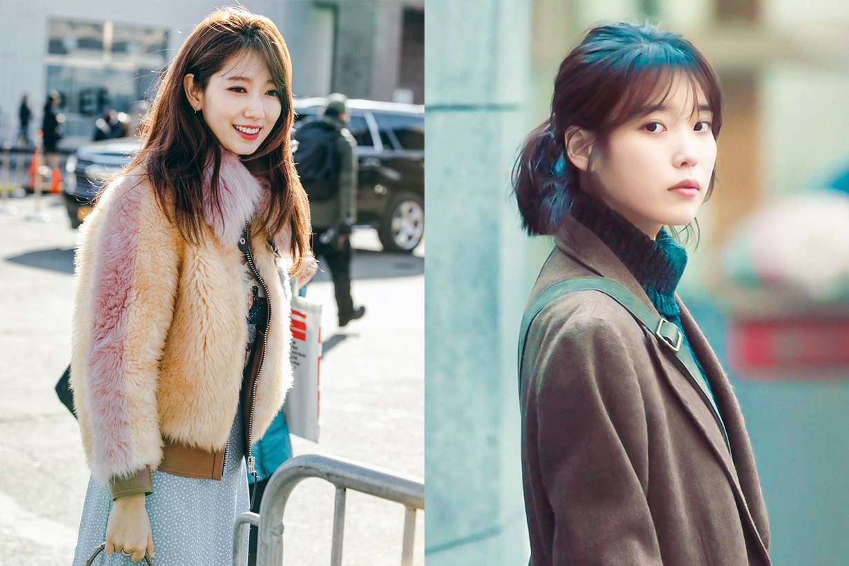Shearling coat Lambskin leather fall winter 2018 trend korean trend korean celebrities idols IU lee ji eun park shin hye yoona lim styling must have items