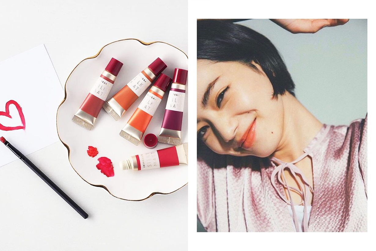 Integrate Shiseido Blush Cream Lip Gloss Matte colour red orange rose coral wine red Nana Komatsu Japanese cosmetics idols celebrities J Beauty