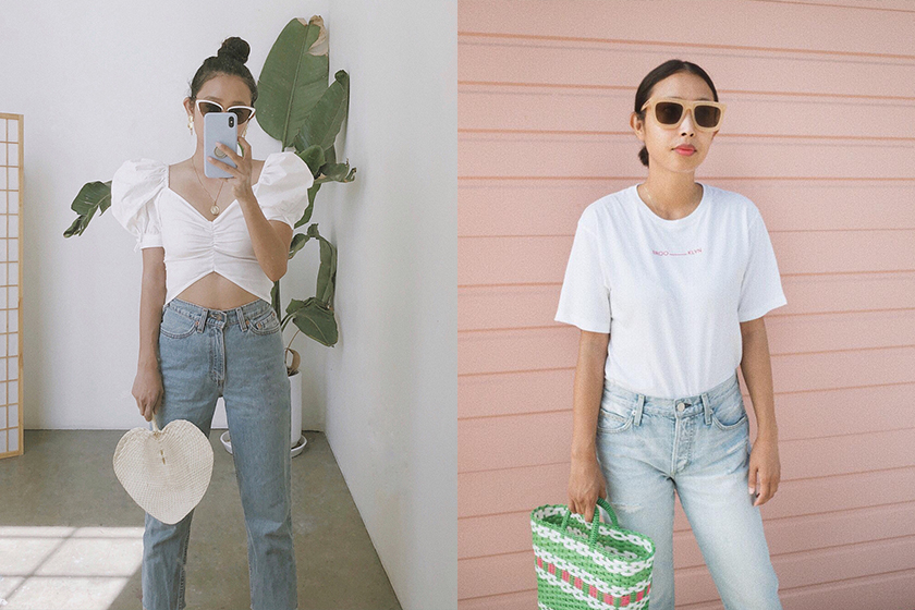 Los Angeles fashion blogger Sisilia Piring jeans style