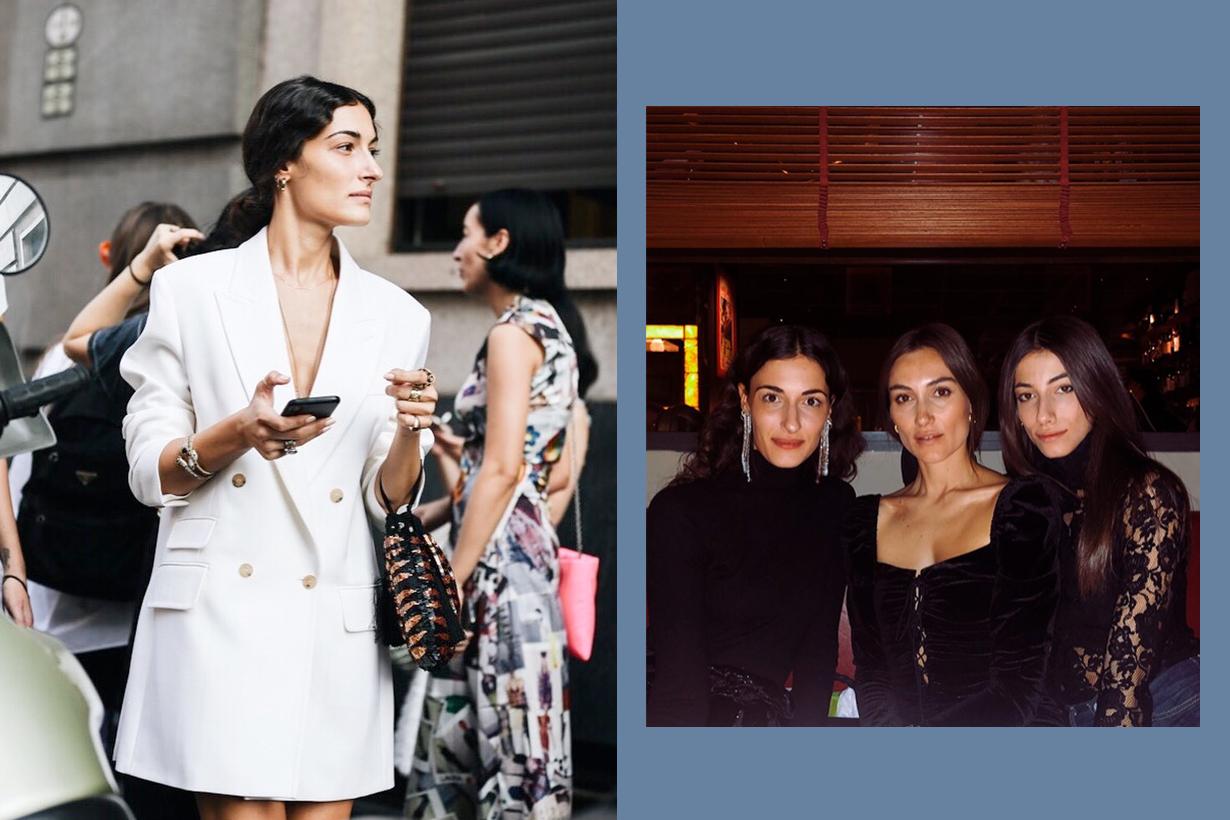 tordini giorgia giulia greta fashion italy milan sister meet