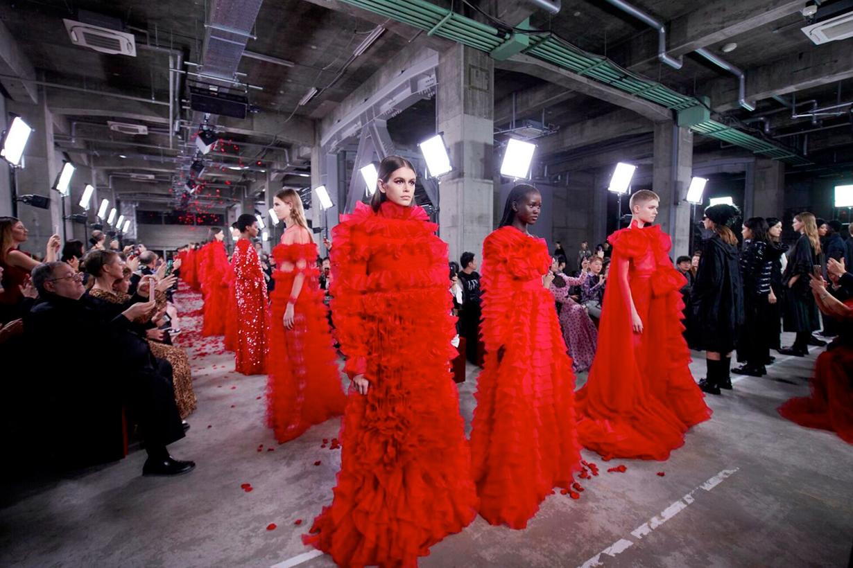 valentino tokyo 2019 pre fall show runway wabi sabi