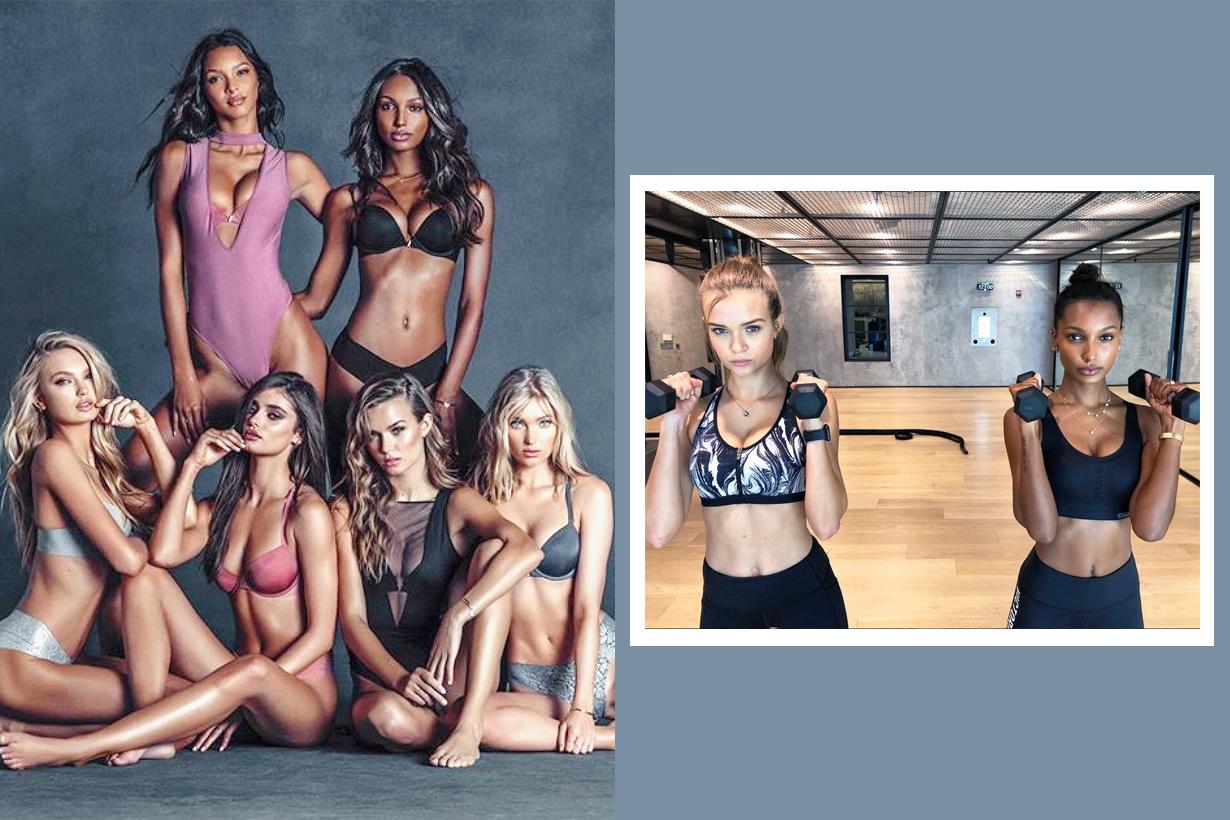 Victorias Secret Show Angels New York Martha Hunt Romee Strijd Elsa Hosk Jasmine Tookes Sara Sampaio Lais Ribeiro Stella Maxwell Alexina Graham