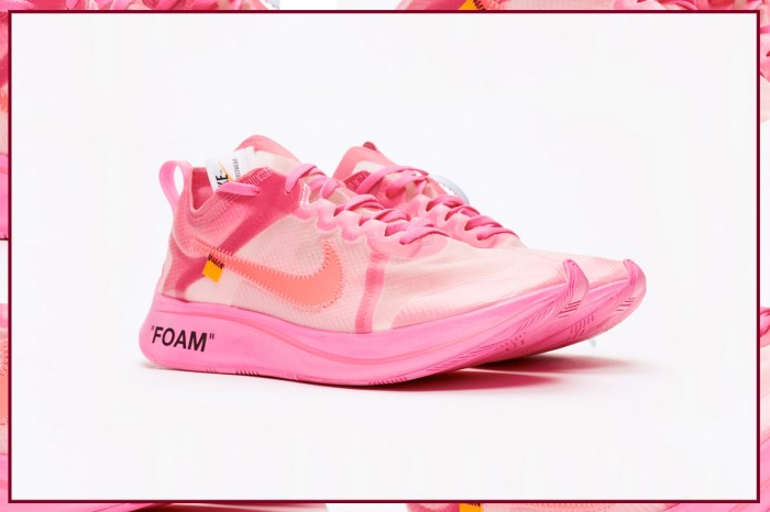 Nike 和 Virgil Abloh 最新聯乘波鞋,是女生們看了都會心動的粉色款!