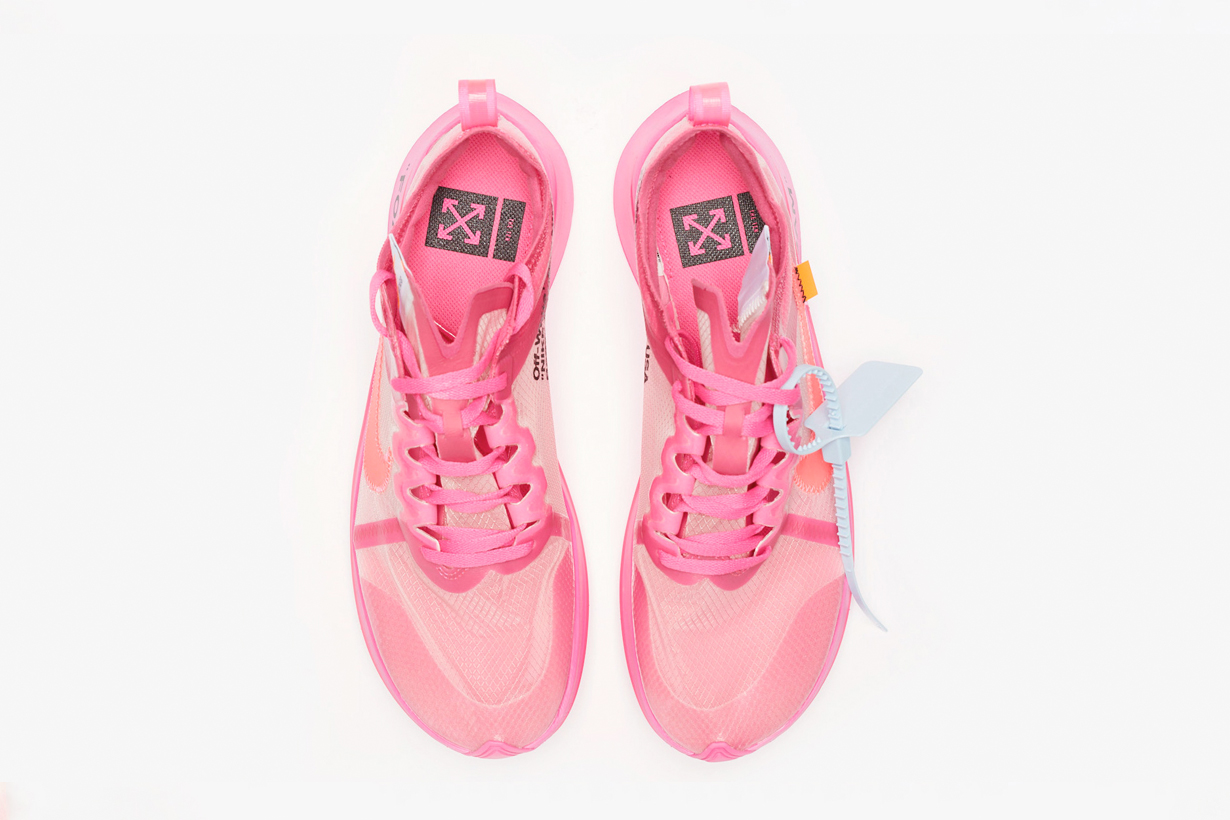 nike virgil abloh pink sneaker collabration zoom fly