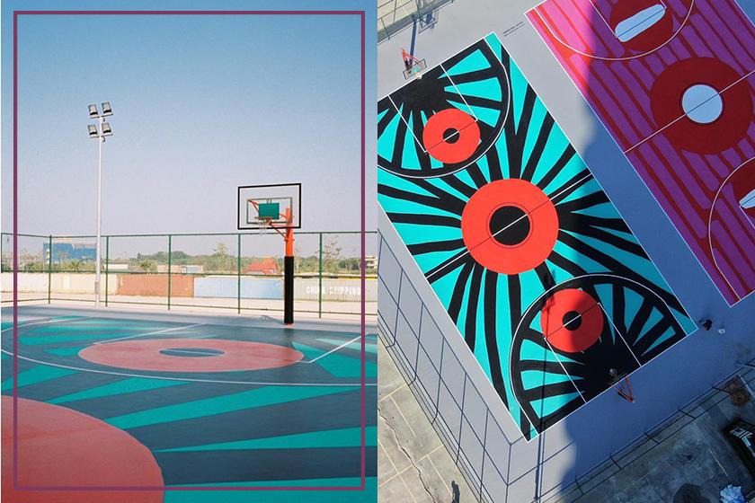 CDG Filip Pagowski Taipei IG Art Basketball Court