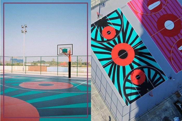 #POPSPOTS in Taipei:籃球場也能這麼美?CDG 最知名愛心插畫家 Filip Pagowski 到淡水作畫!