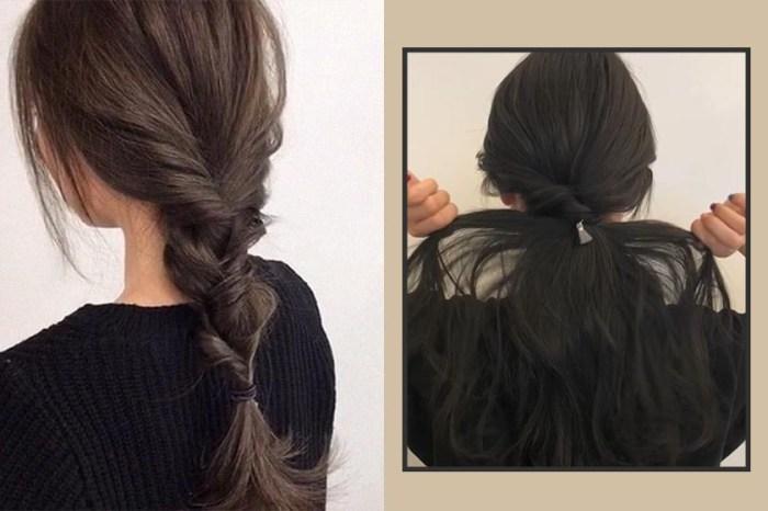 只需一個髮圈就能完成:不會綁三股辮也能學會的超簡單編髮造型!