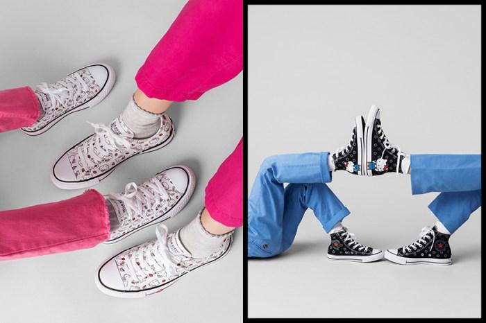 每一雙都充滿可愛細節!Converse 再度推出 Hello Kitty 合作鞋款!