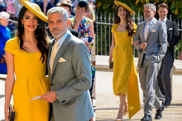 Amal Clooney Stella McCartney dress Royal Wedding
