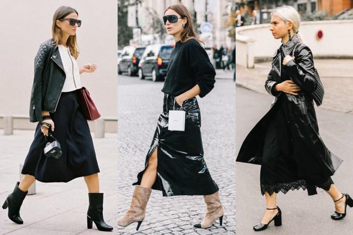 擺脫「黑色長裙=配角」的印象!20 張完美街拍解鎖黑裙的時尚穿法