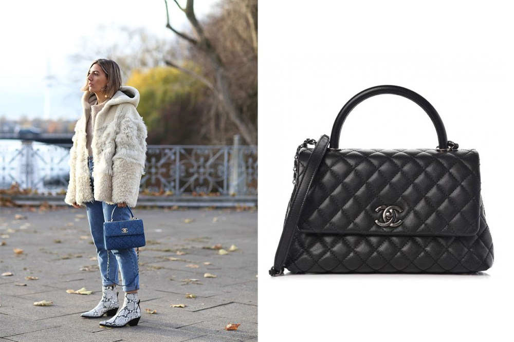 Chanel Coco Handle Bag Street Style