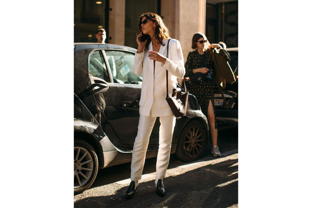 White Suit Street Style