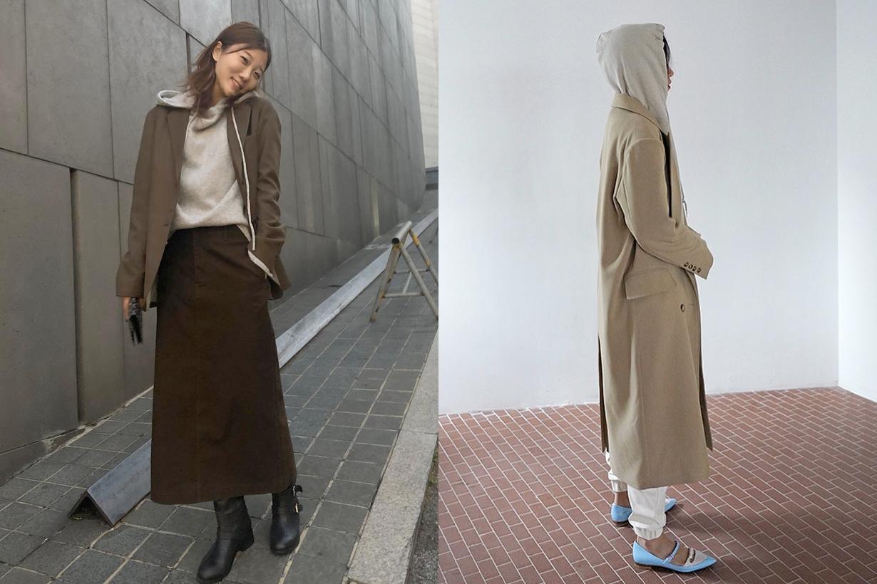 hoodie outwear korean girls look more fashion