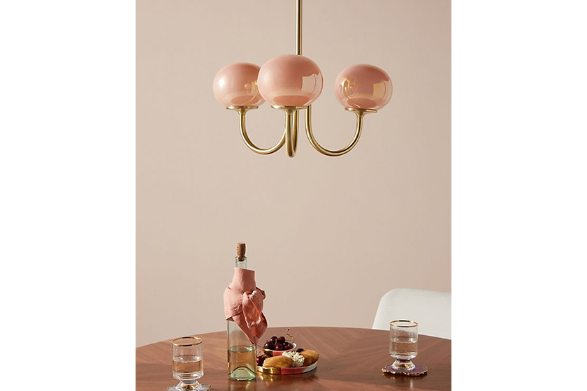 Anthropologie Pearl LED Chandelier
