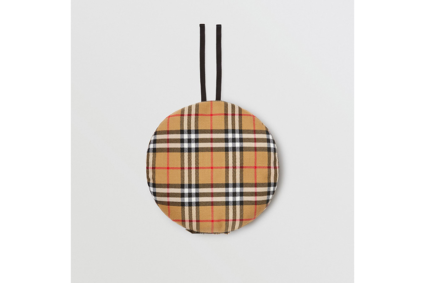 Burberry and Vivienne Westwood Pin Detail Vintage Check Wool Beret