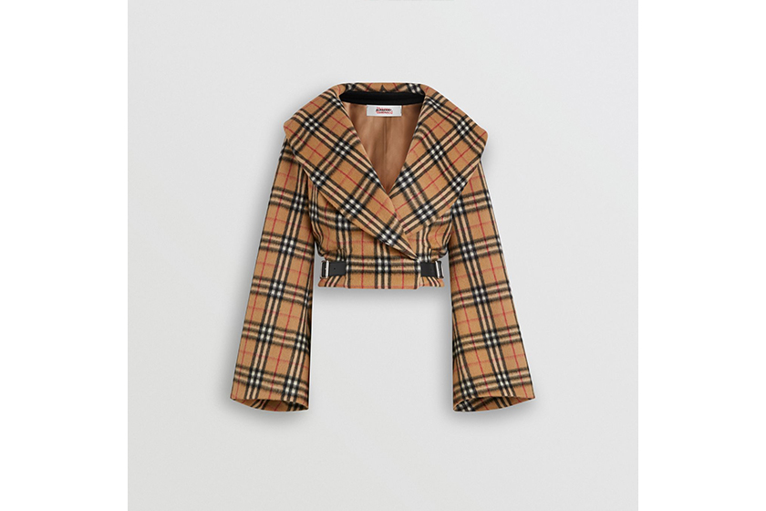 Burberry and Vivienne Westwood Vintage Check Alpaca Wool Hugger Jacket
