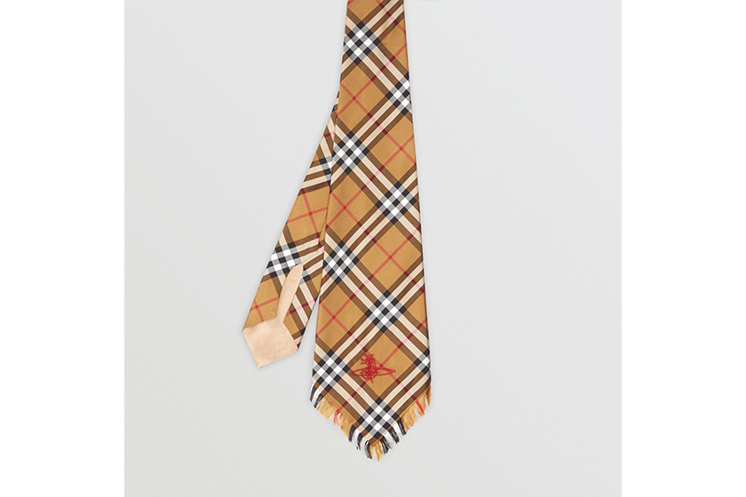 Burberry and Vivienne Westwood Wide Cut Vintage Check Silk Tie