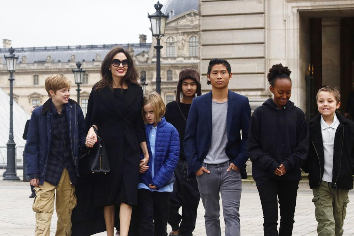 Angelina Jolie Brad Pitt Divorce Split Daughters Sons Adoption Maddox Chivan Jolie-Pitt Zahara Marley Pax Thien Shiloh Nouvel Knox Léon Vivienne Marcheline Celebrities Couples