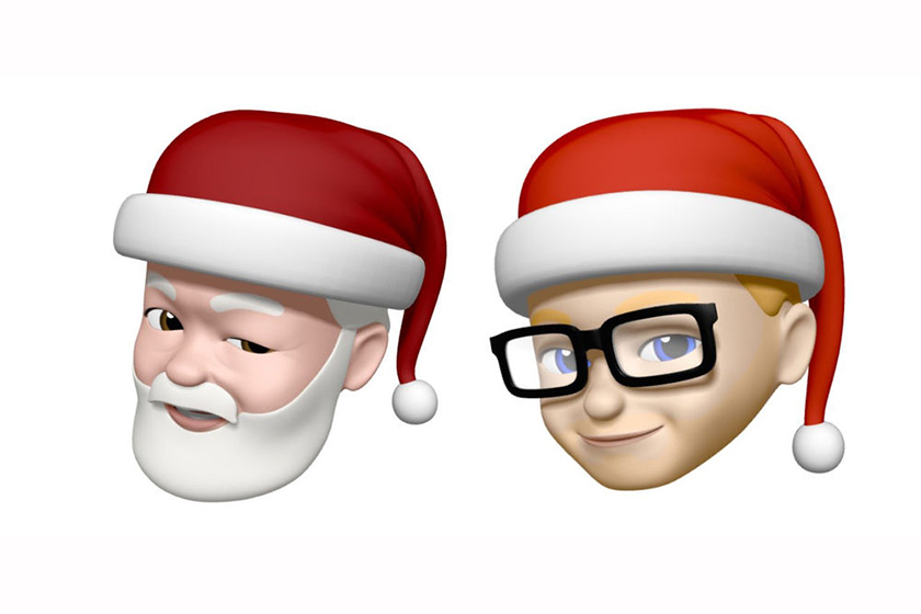 apple santa hat memoji iphone ipad