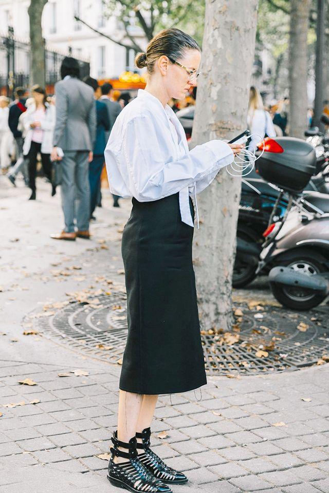 Black Maxi Skirt Street Style