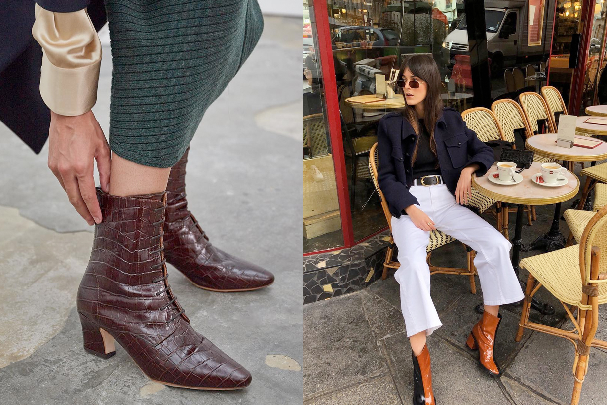 winter boots trends french heel cowboy zip
