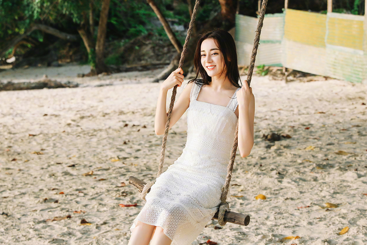 Dilireba Dilraba Dilmurat Chinese Actresses Pencil Middle skirt long socks celebrities style