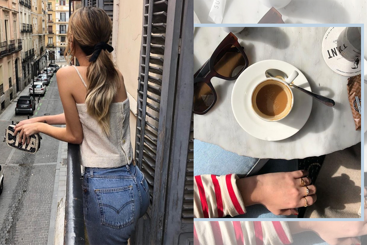 french girl style knit wear plus jeans 2018