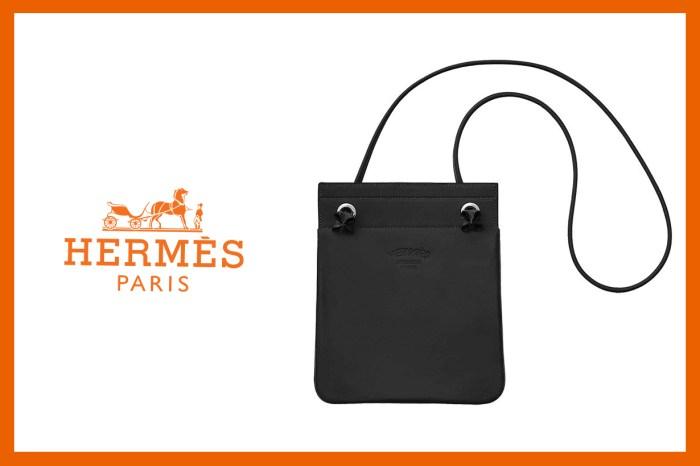 Hermès 簡約包包 Aline Bag 除了常見的帆布材質外,其實還有皮革款!