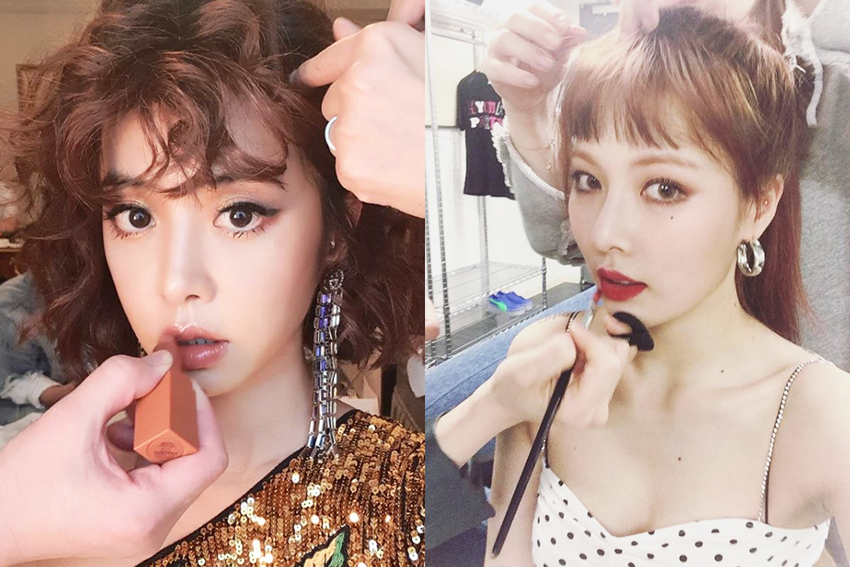 Hyuna Kim Jolin Cai Jolin Tsai 3/4 Makeup trend 2018 fall winter light eye makeup lipsticks blush contouring celebrities makeup style