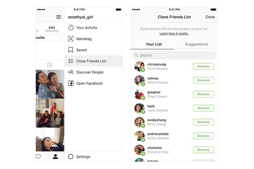 instagram close friends launch