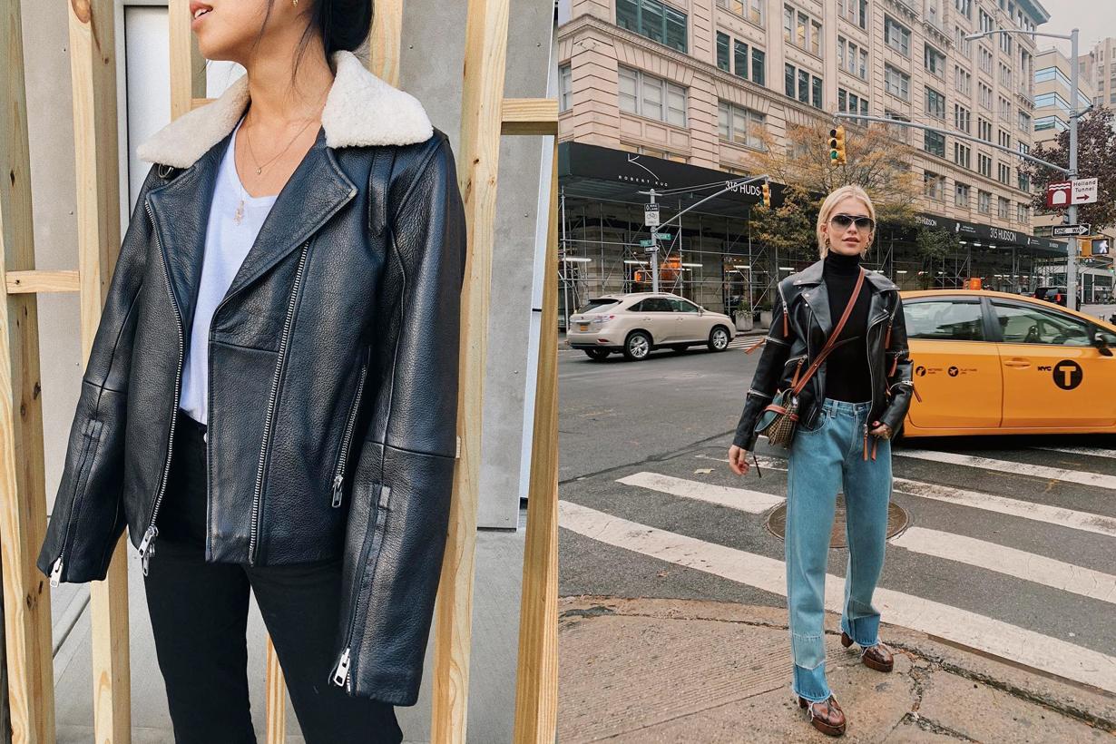 leather moto jacket winter must have wardrobe