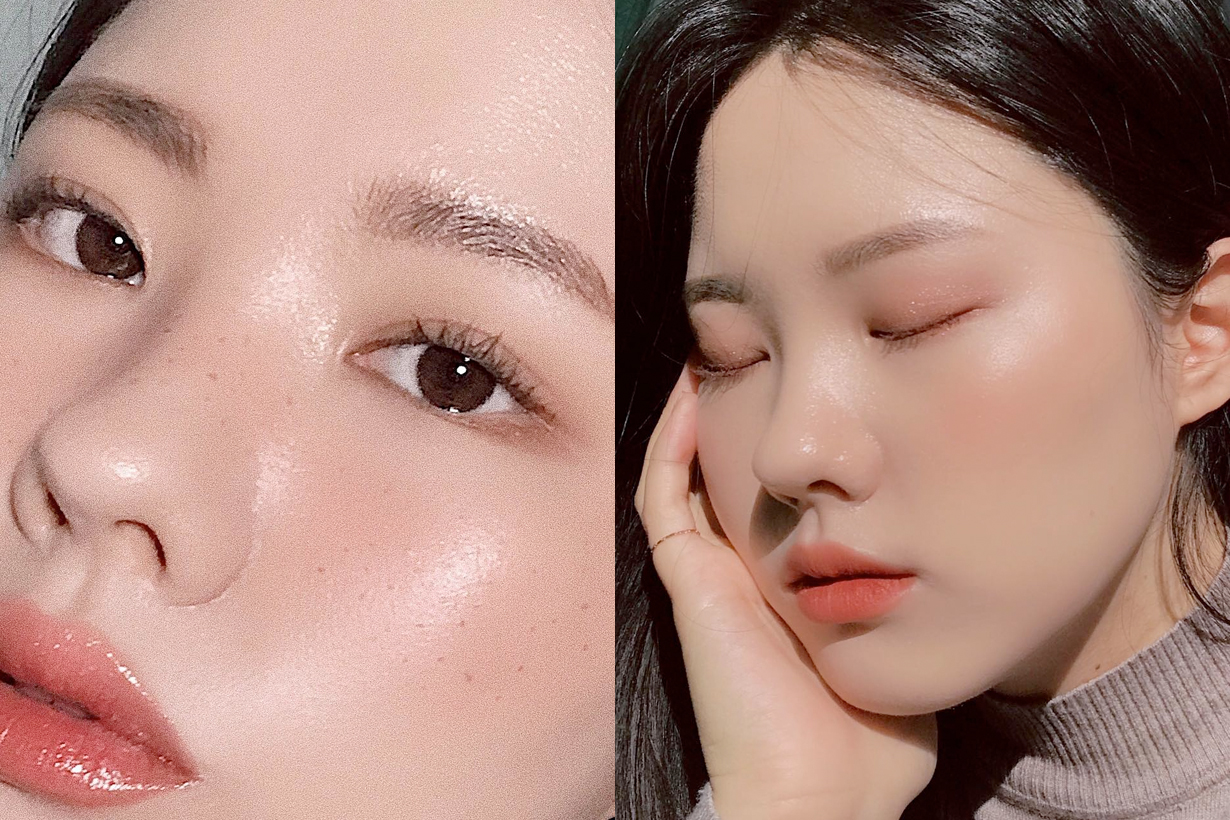 make up korea girl no eye liner clean