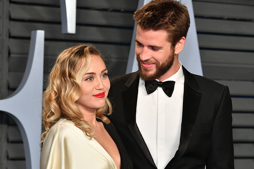 miley cyrus wedding dress liam hemsworth secret wedding