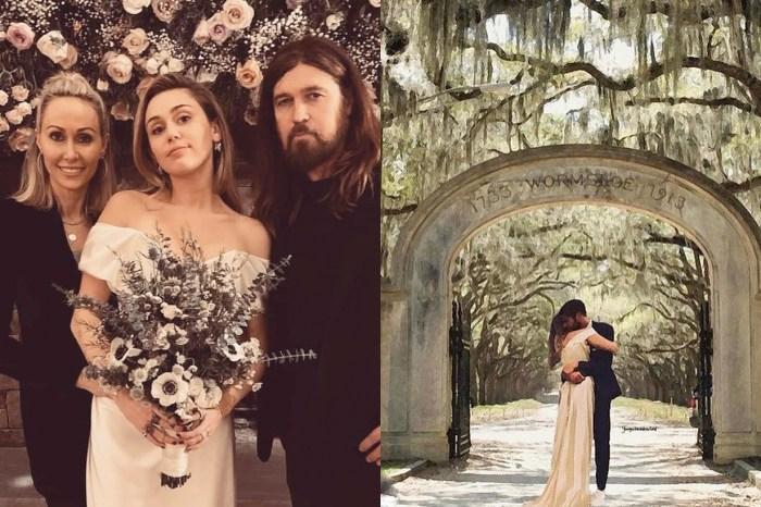 你或許沒注意到?婚禮當天,Miley 其實在「這個小細節」上打破了新娘傳統!