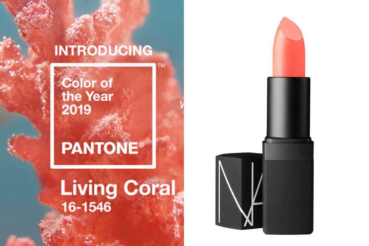 Pantone 2019 living coral makeup products