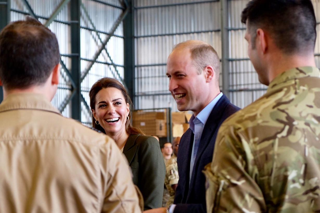 Prince William Kate Middleton RAF Akortiri Smythe Jigsaw Christmas Tree Prince George loves helicopter Prince Louis royal waving British Royal Family