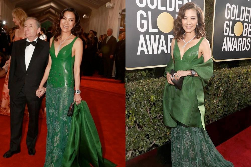 Michelle Yeoh golden globe crazy rich asians ring met gala same dress SHIATZY CHEN