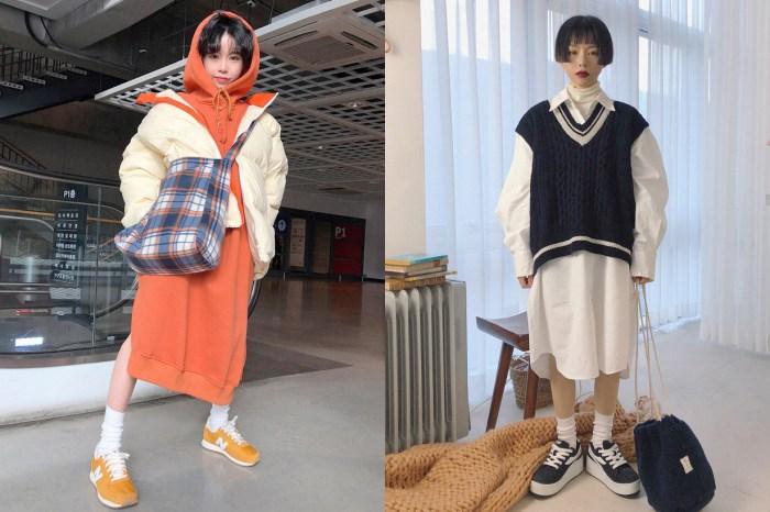 嬌小身形該怎麼穿 Oversized 才不會被淹沒?看這個韓國女生穿就對了!